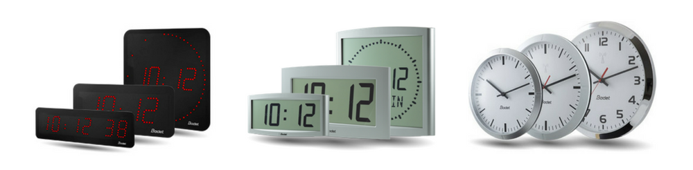 Bodet Digital & Analogue Clocks