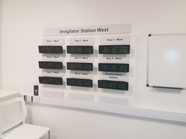 Bodet Clocks on Invigilator Station